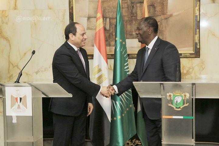 Redynamisation de la Coopération Côte D'Ivoire-Egypte : Alassane Ouattara encourage les investisseurs égyptiens à investir dans la transformation du cacao et l'anacarde