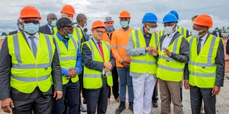 Infrastructures : Le Premier ministre Patrick Achi s'imprègne de l'avancement des travaux du grand marché de Bouaké
