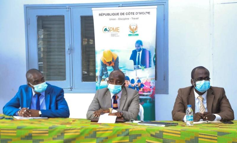 Image FSPME Covid-19 : L'Agence Côte d'Ivoire PME à la rencontre des membres du Haut Conseil du Patronat des entreprises de transport